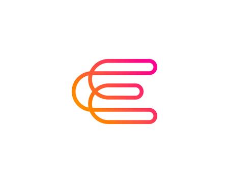 Illustration pour Letter E Icon Design Element - image libre de droit