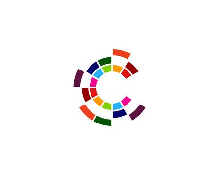 Ilustración de Letter C Icon Logo Design Element - Imagen libre de derechos