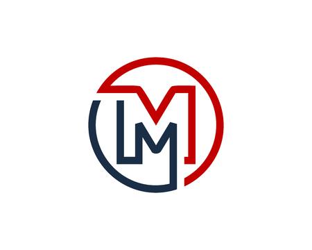 Illustration for Letter M Circle Line Icon Design Element - Royalty Free Image