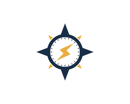 Illustration pour Power Compass Icon Logo Design Element - image libre de droit