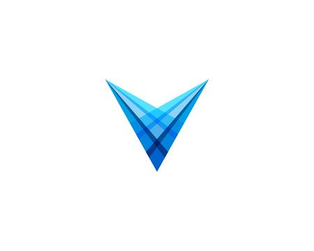 Illustration for Letter V Icon Logo Design Element - Royalty Free Image