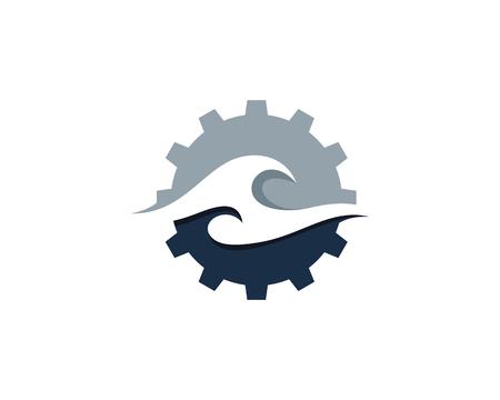 Ilustración de Wave icon logo design element. - Imagen libre de derechos