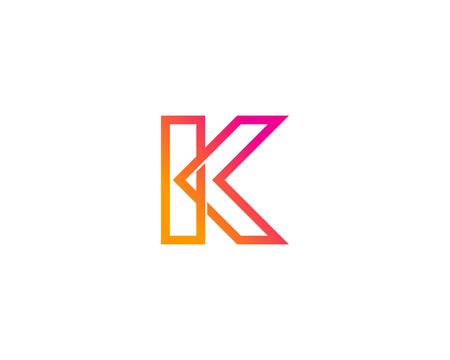 Illustration for Letter K Icon Logo Design Element - Royalty Free Image
