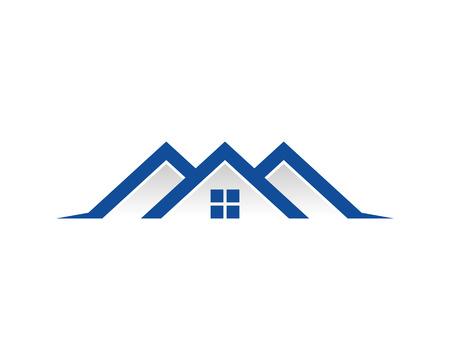 Illustration for Real Estate Icon Logo - Royalty Free Image