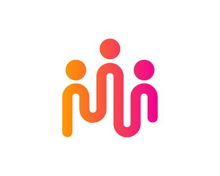 Ilustración de People Icon Logo Design Element - Imagen libre de derechos