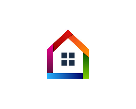 Illustration for House Home Icon Logo Design Element - Royalty Free Image
