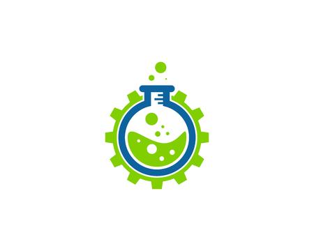 Illustration pour Science Lab Icon Logo Design Element - image libre de droit