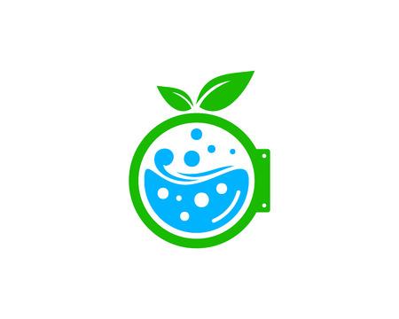 Illustration for Laundry Icon Logo Design Element - Royalty Free Image