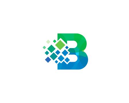 Illustration pour Letter B Pixel Icon Logo Design Element - image libre de droit