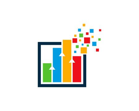 Ilustración de Graph Icon Logo Design Element - Imagen libre de derechos