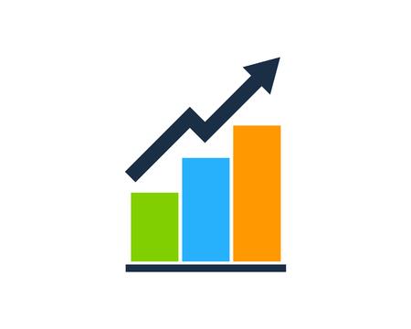 Illustration pour Stock Market Business Icon Logo Design Element - image libre de droit