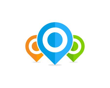 Illustration pour Pin Point Icon Logo Design Element - image libre de droit