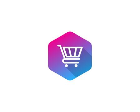 Illustration pour Shopping Icon Logo Design Element - image libre de droit