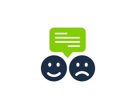 Ilustración de Testimonial Icon Logo Design Element - Imagen libre de derechos