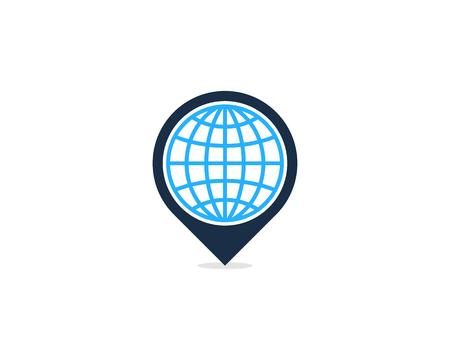 Ilustración de Pin Point Icon Logo Design Element - Imagen libre de derechos