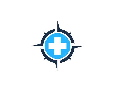 Illustration pour Medical Compass Icon Logo Design Element - image libre de droit