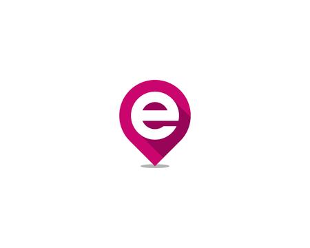 Ilustración de Letter E Icon Logo Design Element - Imagen libre de derechos