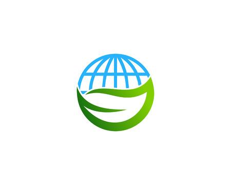 Ilustración de Globe Icon Logo Design Element - Imagen libre de derechos
