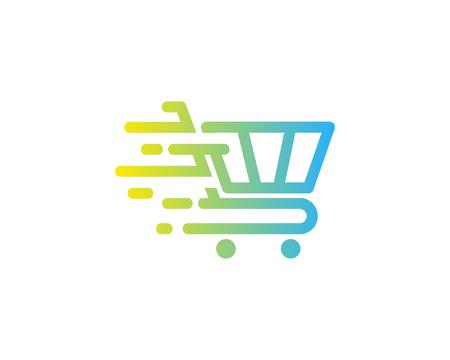 Ilustración de Shopping Icon Logo Design Element - Imagen libre de derechos