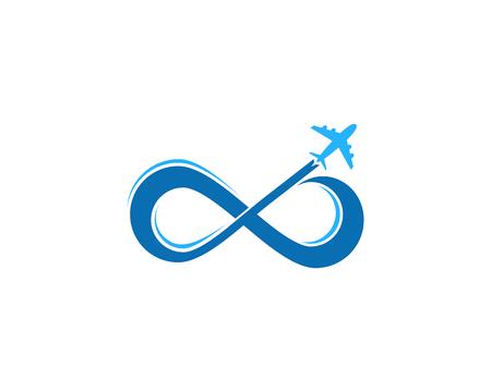 Illustrazione per Travel Icon Logo Design Element - Immagini Royalty Free