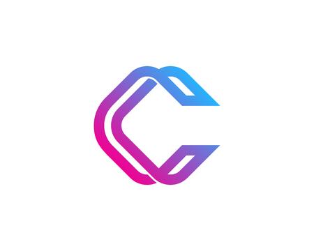Illustration pour Letter C Icon Design Element - image libre de droit