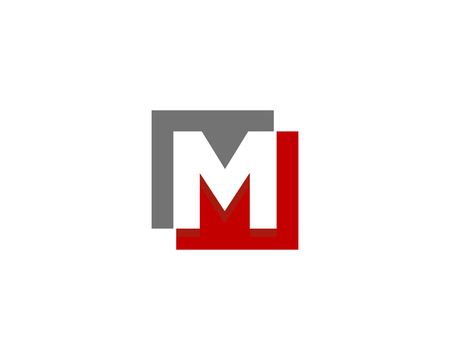 Illustration for Letter M Icon Logo Design Element - Royalty Free Image