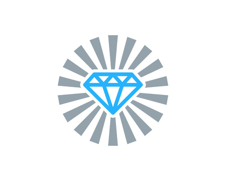 Illustration for Diamond Icon Logo Design Element - Royalty Free Image