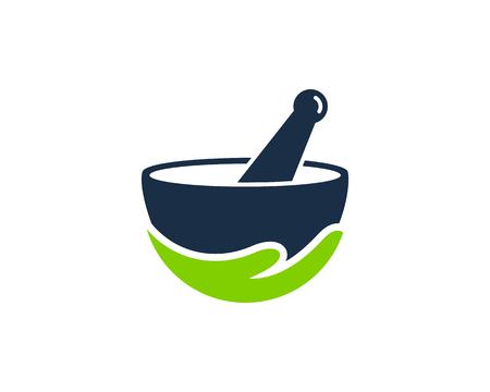 Ilustración de Medicine Icon Logo Design Element - Imagen libre de derechos