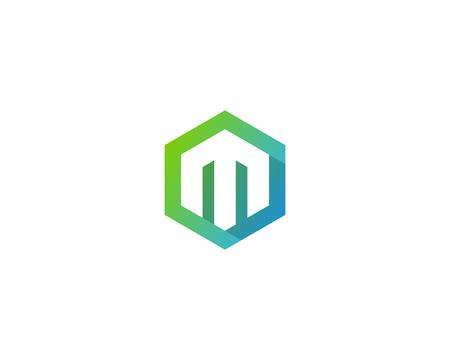 Ilustración de Letter M Icon Logo Design Element - Imagen libre de derechos