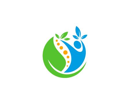 Ilustración de Wellness Icon Logo Design Element - Imagen libre de derechos