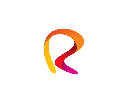 Ilustración de Letter R Icon Logo Design Element - Imagen libre de derechos