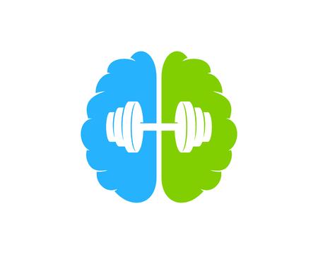 Ilustración de Brain Barbell  Icon Design - Imagen libre de derechos