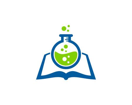 Illustration pour Research Book Logo Icon Design - image libre de droit