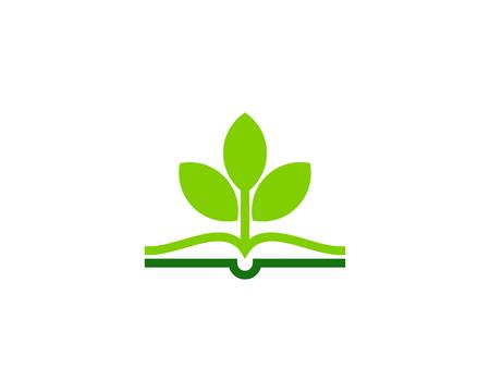 Ilustración de Plant Book Logo Icon Design - Imagen libre de derechos