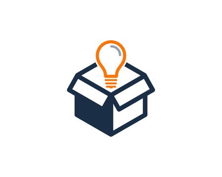 Illustration pour Creative Box Icon Design illustration - image libre de droit