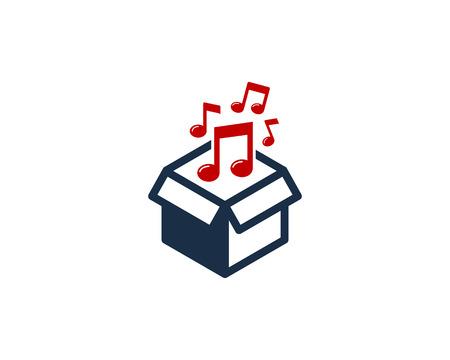 Ilustración de Music Box Logo Icon Design illustration graphic design vector - Imagen libre de derechos
