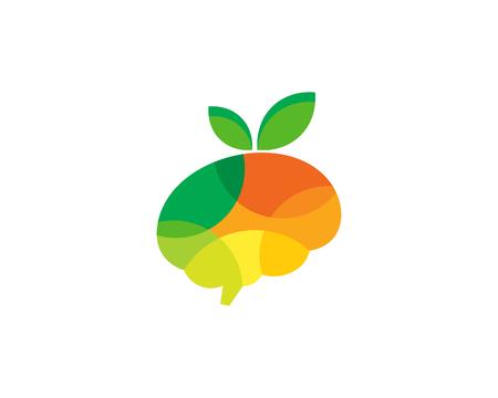 Ilustración de Vitamin Brain Logo Icon Design - Imagen libre de derechos