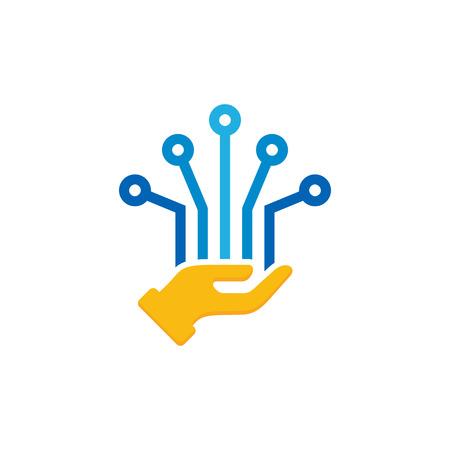 Illustration for Digital Care Logo Icon Design - Royalty Free Image