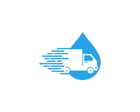 Photo pour Splash Delivery Logo Icon Design - image libre de droit