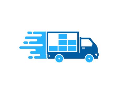 Photo pour Fast Delivery Logo Icon Design - image libre de droit