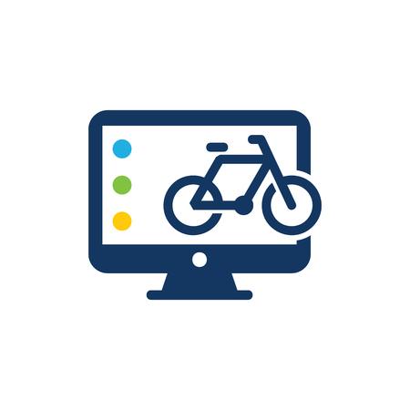 Ilustración de Bike Computer Logo Icon Design - Imagen libre de derechos