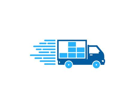 Photo pour Data Delivery Logo Icon Design - image libre de droit