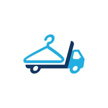 Illustration pour Laundry Delivery Logo Icon Design - image libre de droit
