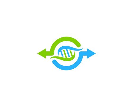 Illustration pour Transfer Dna Logo Icon Design - image libre de droit