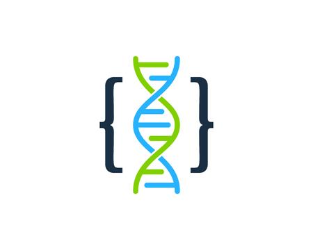 Ilustración de Code Dna Logo Icon Design - Imagen libre de derechos