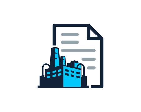 Illustration pour Document Factory Logo Icon Design - image libre de droit