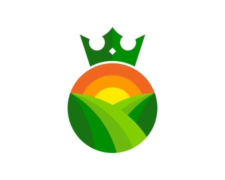 Illustration for Crown Logo Icon Design - Royalty Free Image