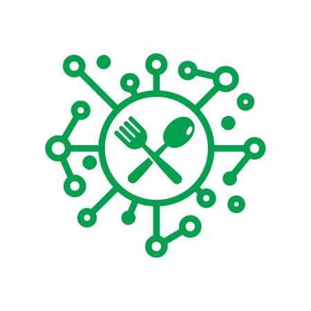Ilustración de Digital Food Logo Icon Design - Imagen libre de derechos