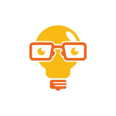 Illustration pour Creative Geek Logo Icon Design - image libre de droit