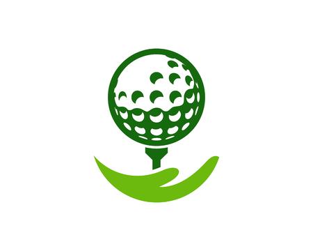 Illustration for Help Golf Logo Icon Design - Royalty Free Image